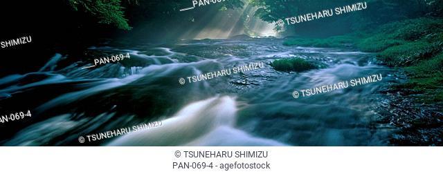 Rushing River, Kikuchi Valley, Kikuchi, Kumamoto, Japan