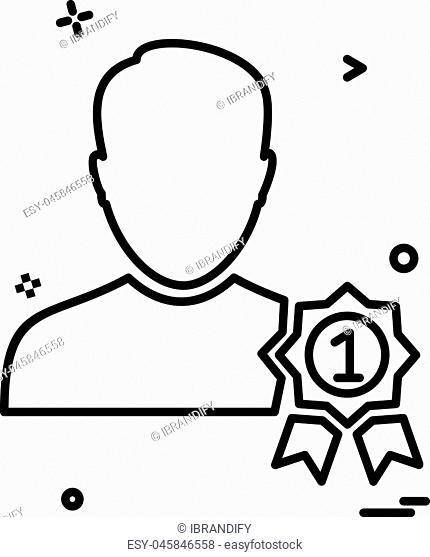 Male avatar icon design vector