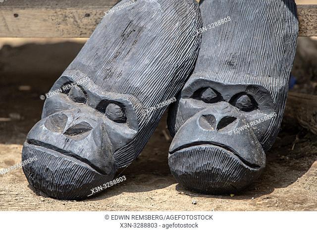 Mountain Gorilla carved curio . Volcanos National Park , Rwanda