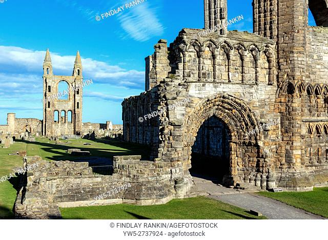 St Andrew's Cathedral, St Andrews, Fife, Scotland, UK