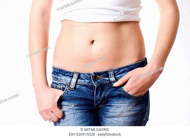 Attractive woman waist
