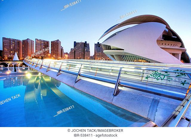 ESP, Spain, Valencia : Ciudad de las Artes Y de las Ciencias, City of arts and sciences. Palau de les Arts Reina Sofia