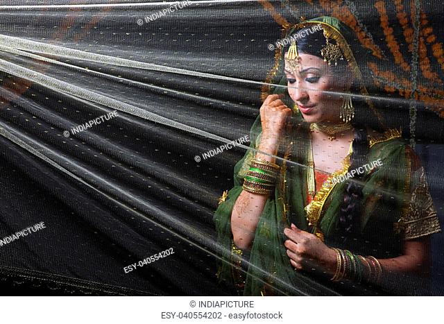 Portrait of a Muslim bride
