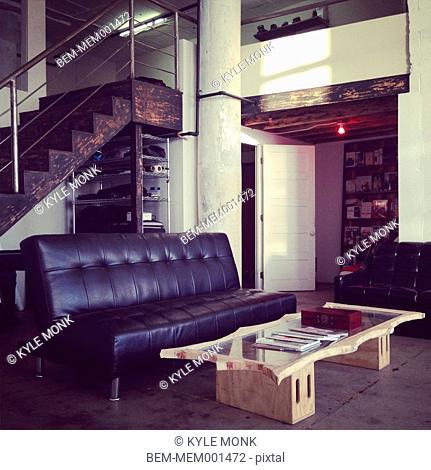 Living room in modern loft