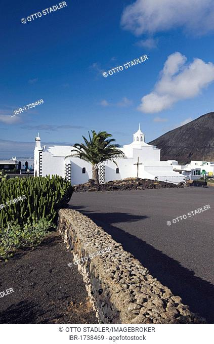 Church of Santuario Virgen de los Dolores in Mancha Blanca, Lanzarote, Canary Islands, Spain, Europe