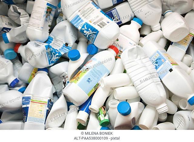 Crushed plastic bottles, full frame