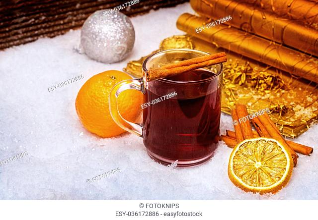 Clementine For Christmas.Tea And Clementines For Christmas Stock Photos And Images