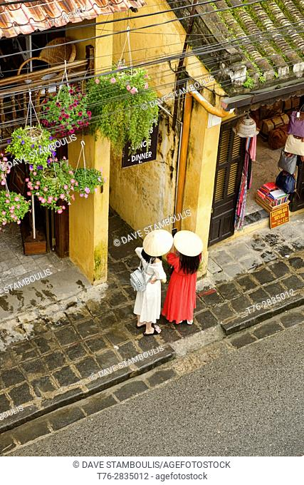 Shopping in historic Hoi An, Vietnam