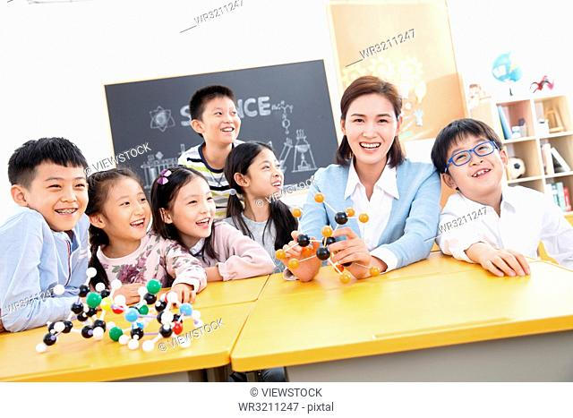 Teacher and pupil in the classroom