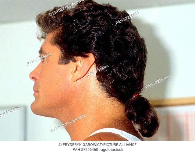 David Hasselhoff on 15.09.1990 in Saarbrücken.   usage worldwide. - Saarbrücken/Saarland/Germany