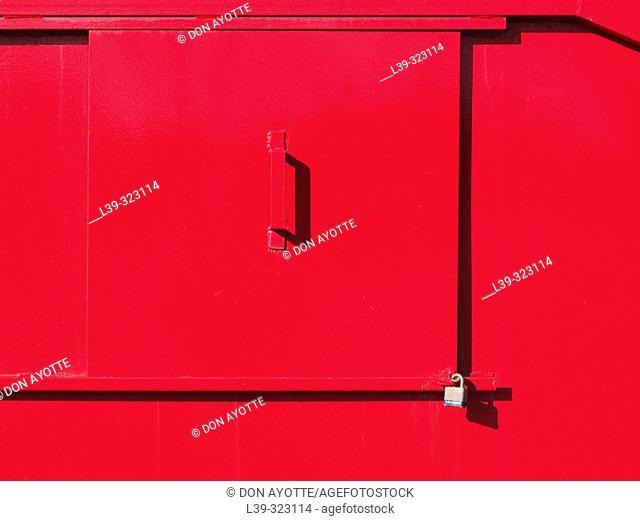 Side door of dumpster