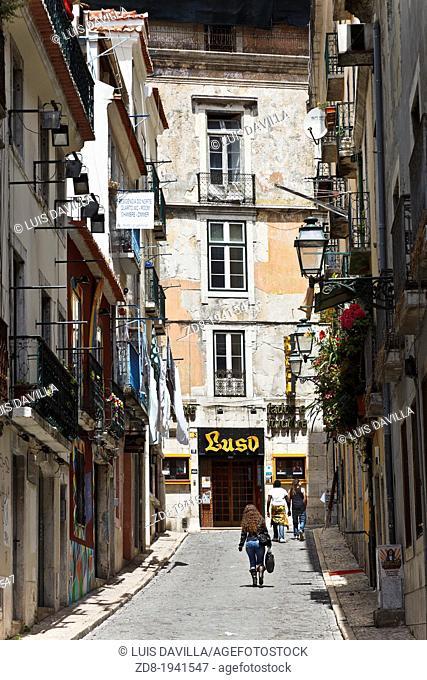 high town in lisbon. portugal