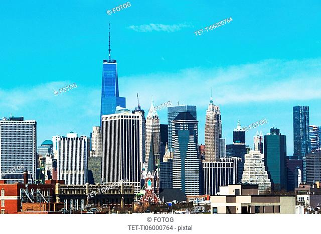 USA, New York State, New York City, Manhattan, City skyline
