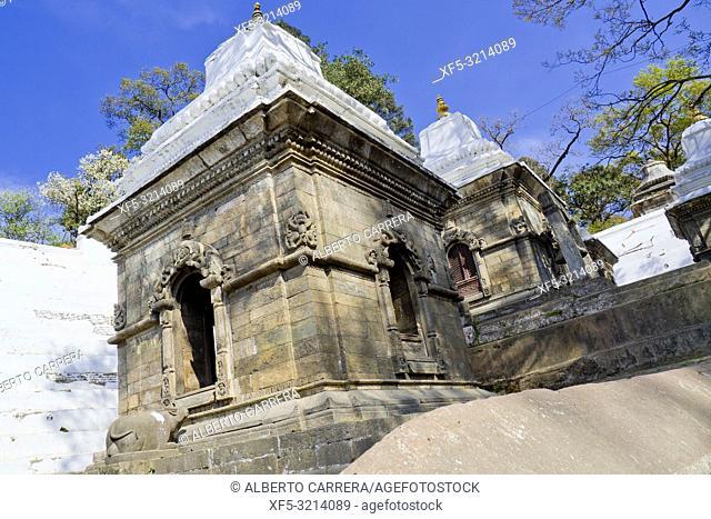 Small Shrines, Pashupatinath Temple, Kathmandu, Nepal, Asia