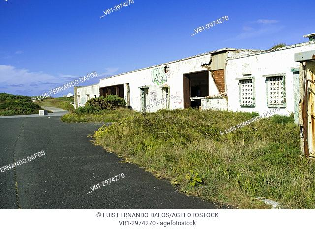 Forlorn NATO base at Estaca de Bares cape, Coruna province, Galicia, Spain, Europe