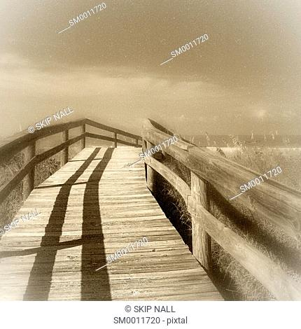 A boardwalk at the beach in Florida