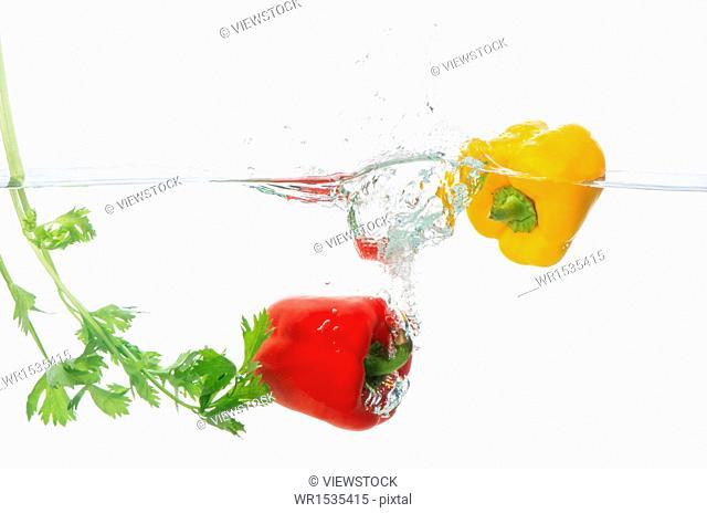 Bell pepper in water