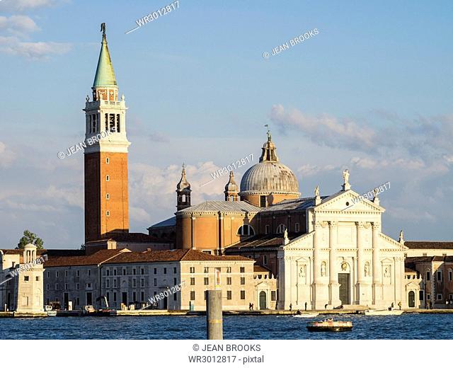 Evening light on the facade of the Redentore, Giudecca, Venice, UNESCO World Heritage Site, Veneto, Italy, Europe