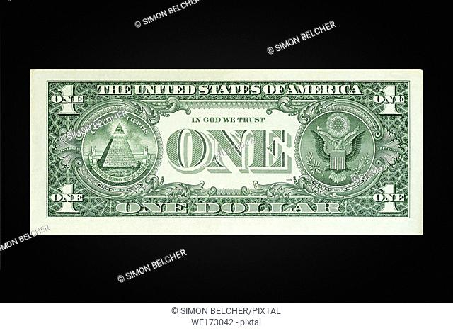 US One Dollar Note Reverse