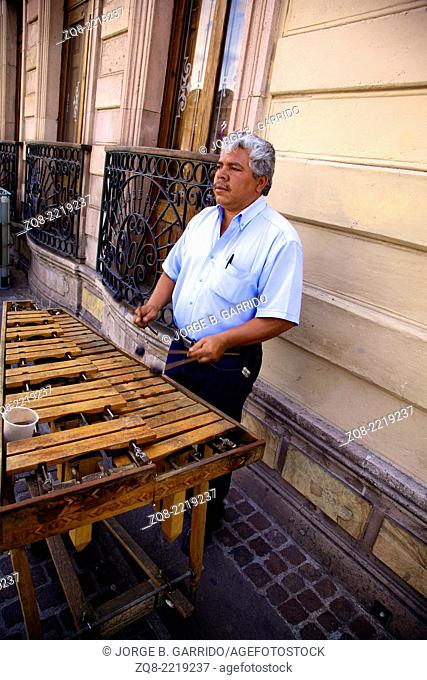 Mexican musician at Aguascalientes
