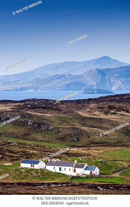 Ireland, County Donegal, Inishowen Peninsula, Malin Head, Ballygorman, house