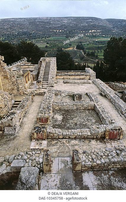 Greece - Crete - Knossos. Palace of Minos. East wing