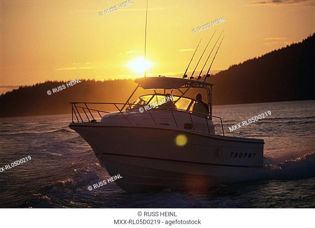 Sunset, Power Boating