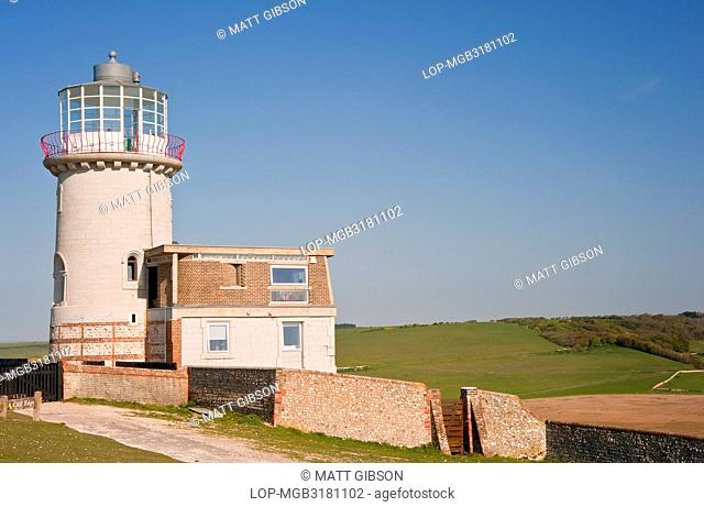 The Belle Tout lighthouse at Beachy Head in East Sussex. Originally built in 1834 by Hallett and Walker, it was decommissioned in 1902 and replaced by the...