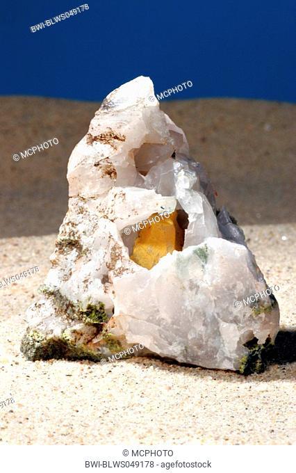 epidote and quartz