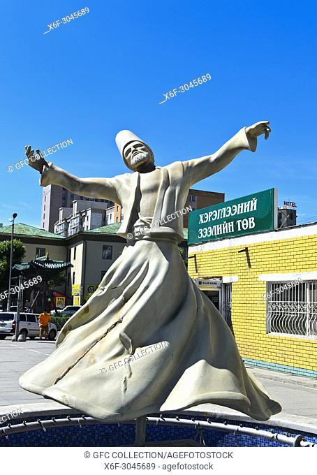 Statue Dervish Dancer, Ulaanbaatar, Mongolia