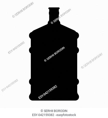 Dispenser large bottles it is black color icon