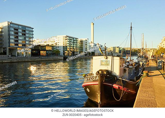 Hammarby Sjostad eco neighbourhood a pioneer in sustainable development, Hammarby Lake, Stockholm, Sweden, Scandinavia
