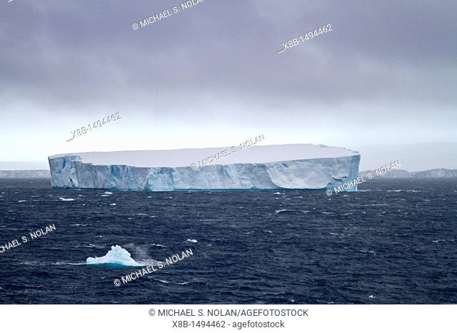 Iceberg detail in the Weddell Sea near the Antarctic Peninsula during the summer months, Southern Ocean  MORE INFO An increasing number of icebergs are being...