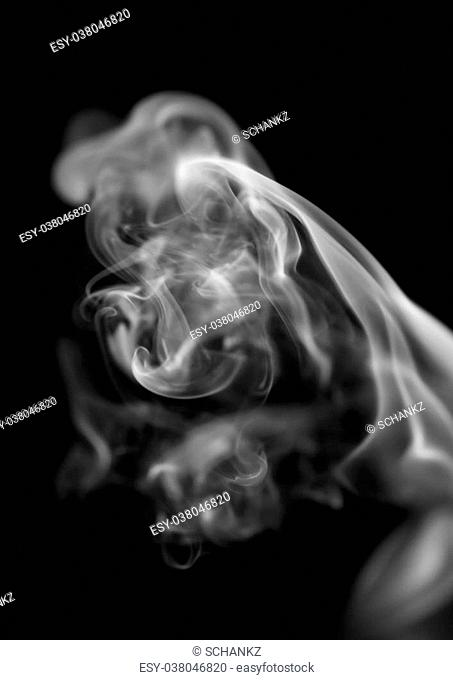 smoke on black background. macro