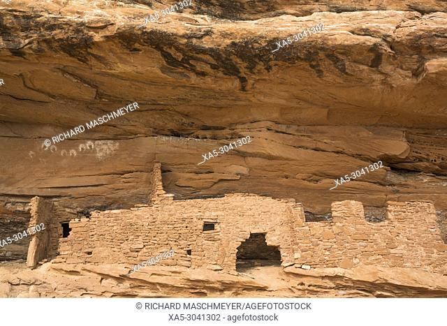 Ancestral Pueblo, up to 1000 years old, Lower Fish Creek, Bears Ears National Monument, Utah, USA