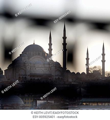 Rustem Pasha Mosque in a city, Istanbul, Turkey