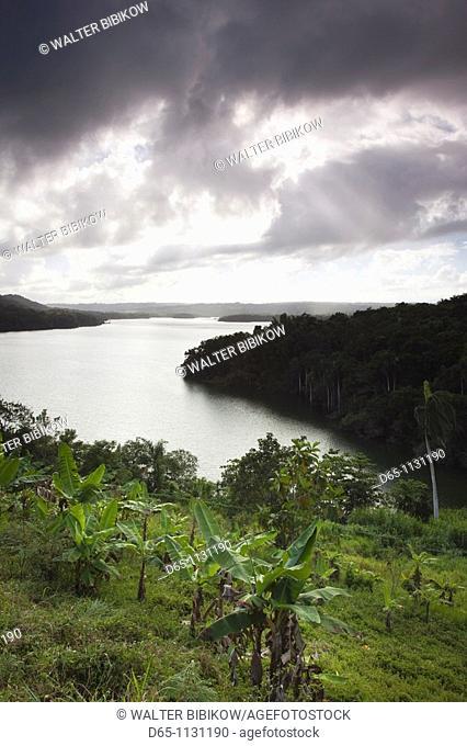 Puerto Rico, North Coast, San Sebastian, Lago de Guajataca lake, elevated view