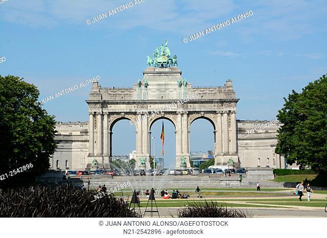Arc du Cinquantenaire. Brussels, Belgium, Europe