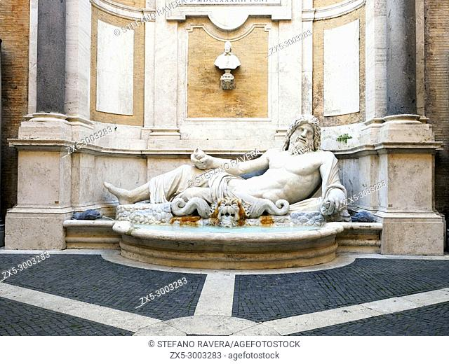 Marforio - This statue probably represents the personification of Ocean, the god who reigned over all the world's waters and dates from the 2nd or 3rd century...
