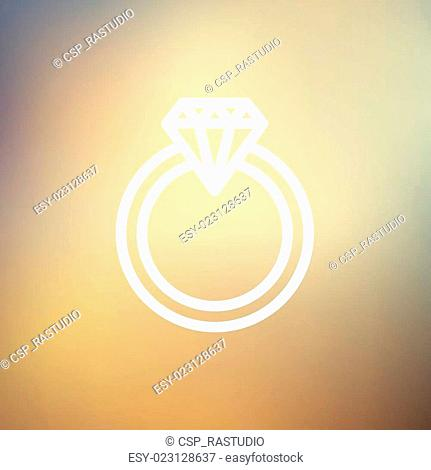 Diamond ring thin line icon