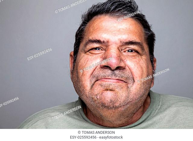 Closeup portriat of an elderly man
