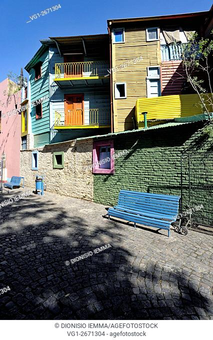 La Boca; Caminito; Buenos Aires; Argentina, South America
