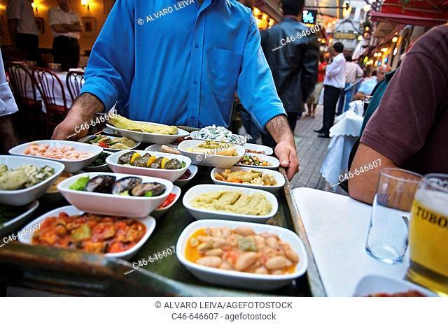 Restaurant near Istiklal Caddesi ('Independence Street'), Istanbul's main shopping street in Beyoglu quarter. Istanbul, Turkey