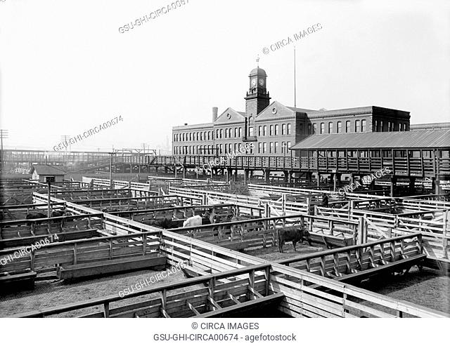 Livestock Exchange, Kansas City, Missouri, USA, circa 1906