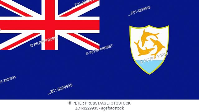 Flag of the British overseas territory Anguilla
