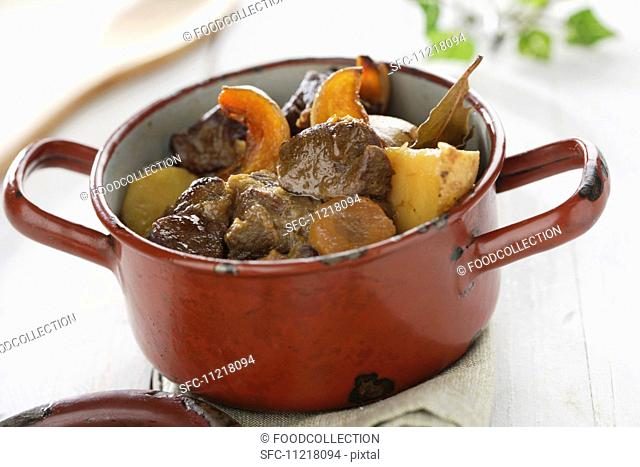 Bowl of Beef Stew with Potatoes and Carrots