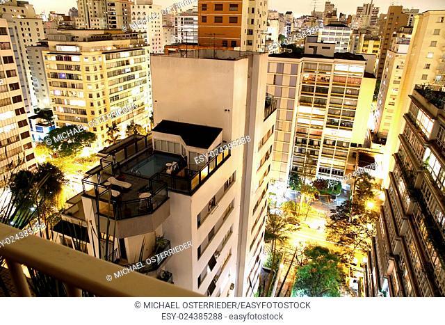 Skyline of Higienopolis, Sao Paulo, Brazil