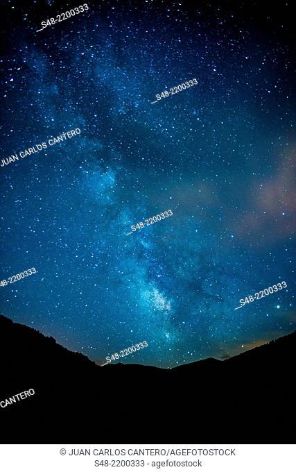 Milky Way. Santurdejo. La Rioja. Spain. Europe