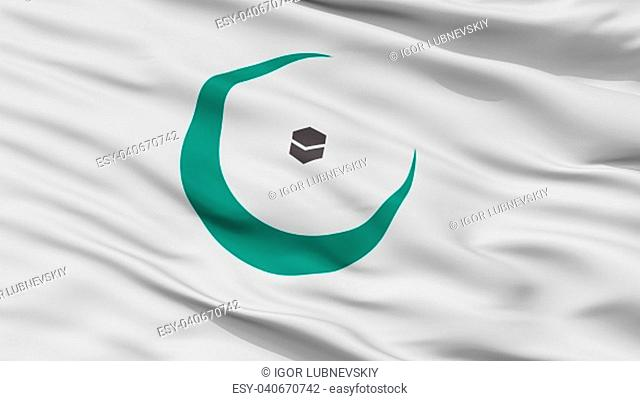 Organisation Of Islamic Cooperation Flag, Closeup View