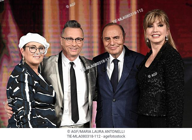 Carolyn Smith, Paolo Belli, Bruno Vespa, Milly Carlucci , Rome, Italy 08/03/2018
